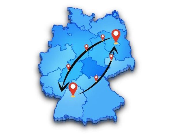 Wir sind in ganz Deutschland unterwegs für deine Beiladung