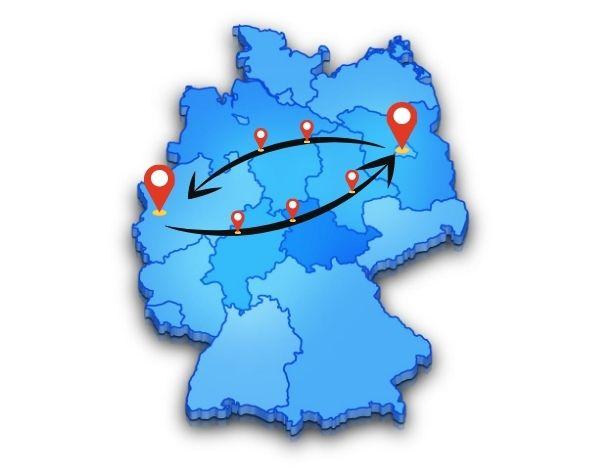 Beiladung von oder nach Berlin - Düsseldorf einfach online buchen