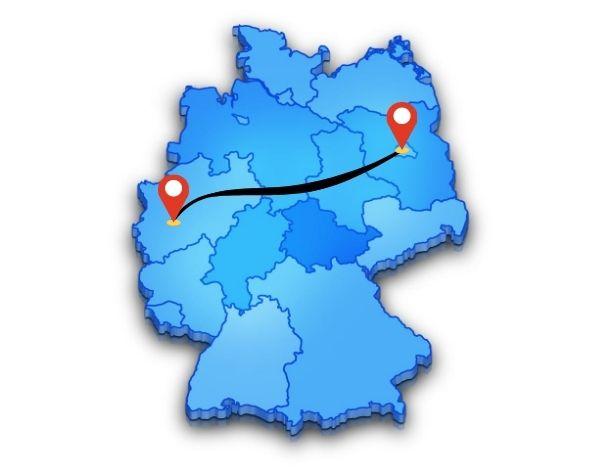 Einfach von oder noch Köln oder nach Berlin als Beiladung
