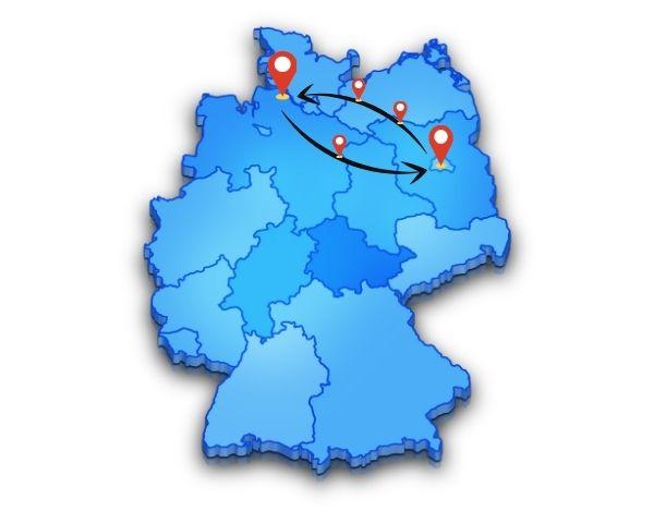 günstigen Preise für deine Beiladung Berlin Freiburg