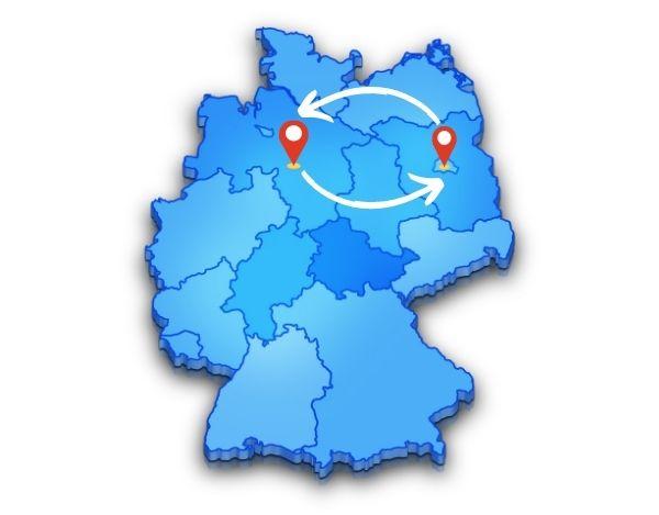 Von oder nach Hannover oder Berlin