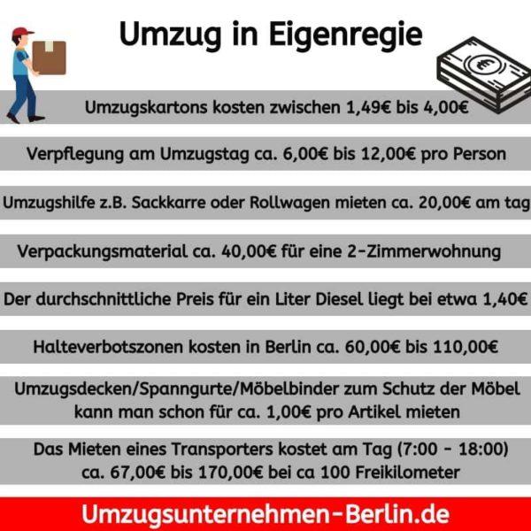 Umzug Berlin in Eigenregie