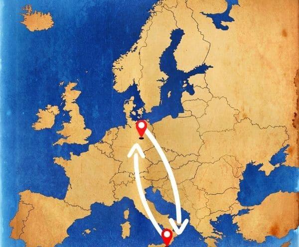 Deutschland nach Malta