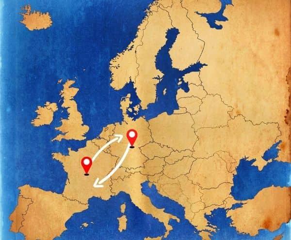 Von Deutschland nach Spanien als Beiladung