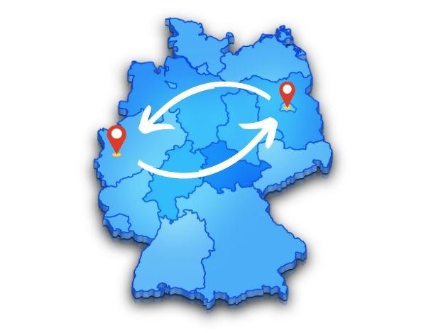 Von Berlin nach Düsseldorf einfach und stressfrei mit uns umziehen