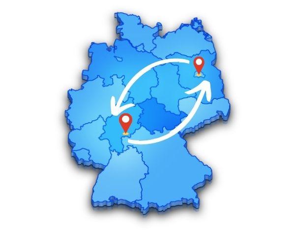Von Berlin nach Frankfurt mit einer Umzugsfirma und wieder zurück