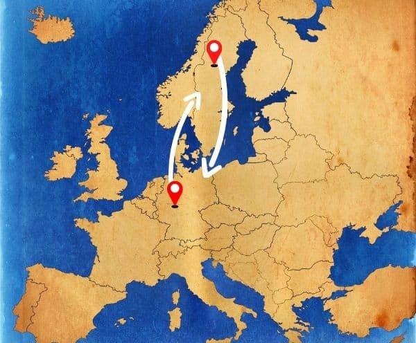 Beiladung nach Schweden aus Deutschland mit einem Umzugsunternehmen