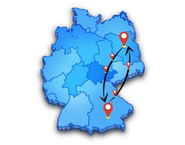 Berlin nach München