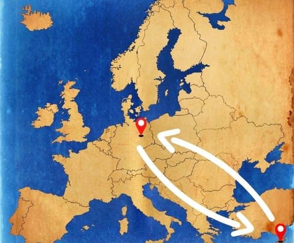 Von Deutschland nach Zypern als Beiladung