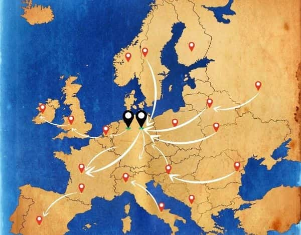 Von Europa mit einer Beiladung bis nach Berlin oder Hannover